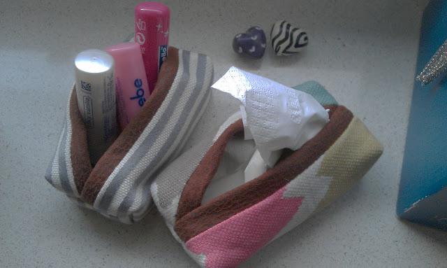 Äußerst praktisch: selbstgenähte Taschentuchtaschen