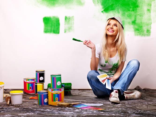DIY malen farben frau