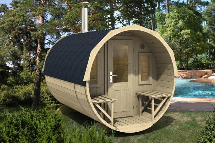 Die Sauna im Fass: lustige Idee.