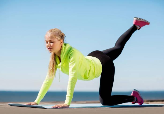 Fitnessübung Sommer
