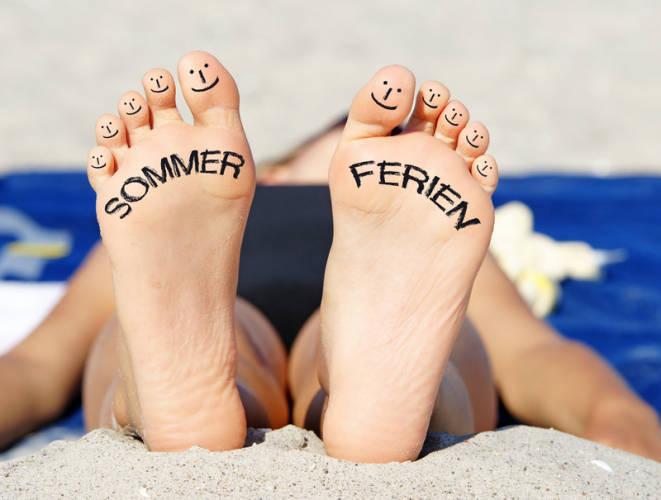 Füße Sommer