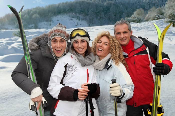 Skiurlaub Freunde