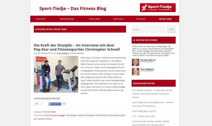 Der Blog bietet Tipps für Training, Geräte und Ernährung.