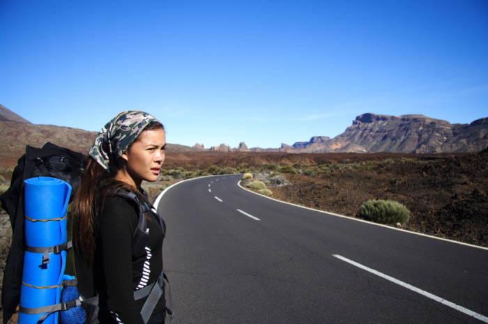 Backpacker Reisen Mädchen