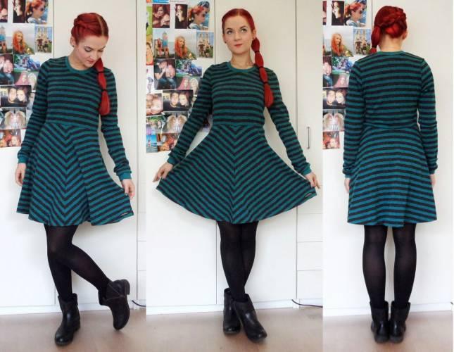 Kleid Strick bunt