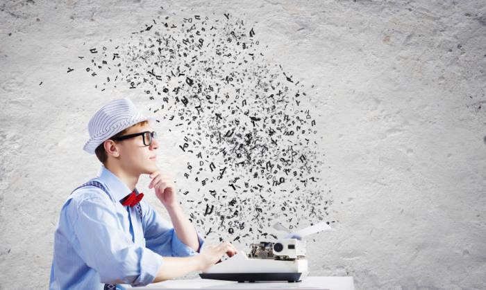 Schriftsteller-an-Schreibmaschine