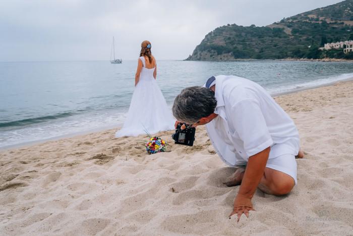 Hochzeitsfotograf bei der Arbeit