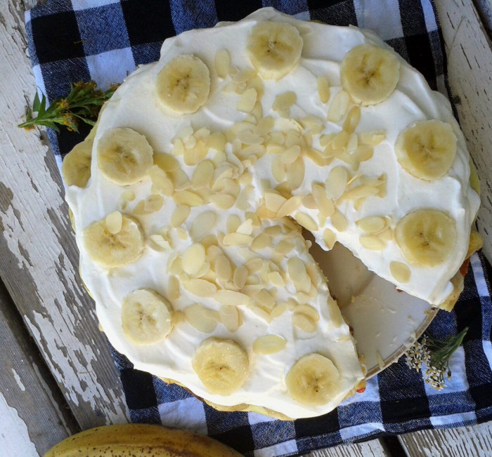 Lecker Bananentorte, so fühlt sich auch der Herbst noch nach Sommer an.