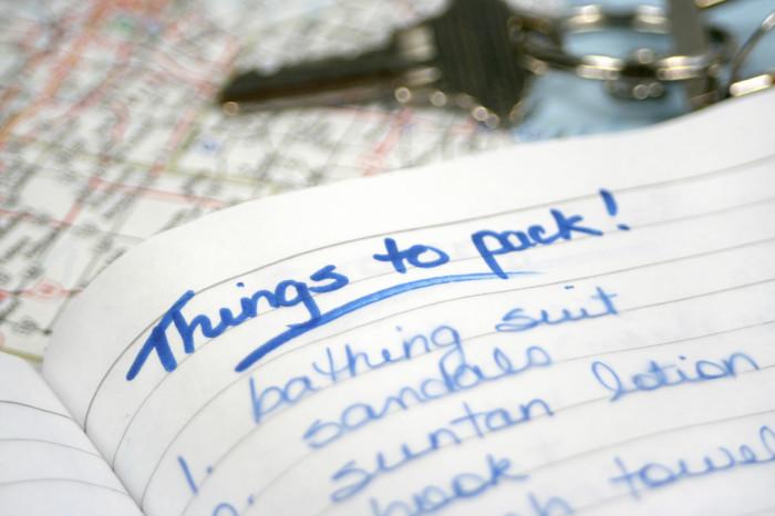 Damit ihr nichts mehr vergesst: Eine ordentliche Packliste hilft!