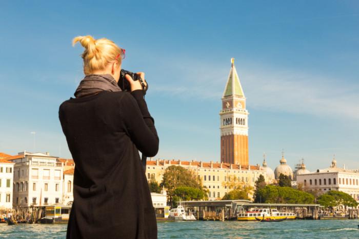 Fotografin in Venedig